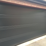 Hormann LPU42 T-Ribbed Sectional door in Anthracite Grey.