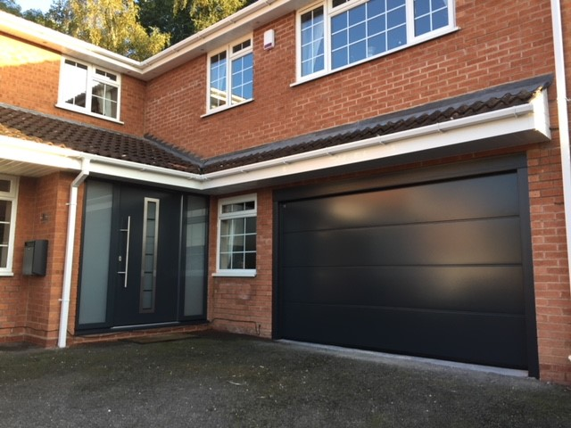 Uploaded ToHormann LPU42 T-Ribbed Sectional door in Anthracite Grey.